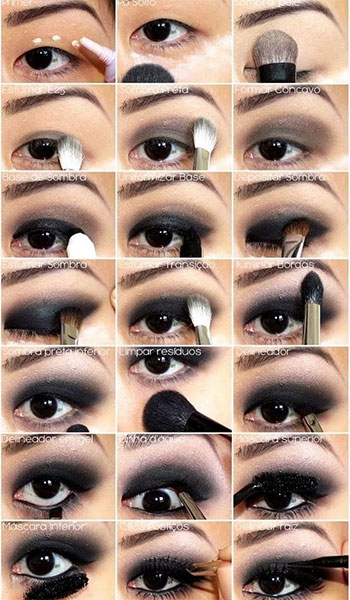 eye makeup - black eye toturial