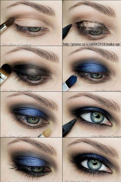 eye makeup - blue eye toturial