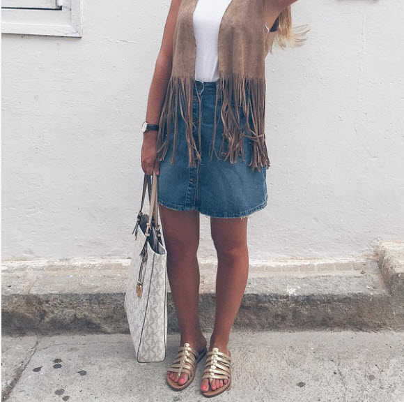 20 Style Tips On How To Wear Denim Mini Skirts