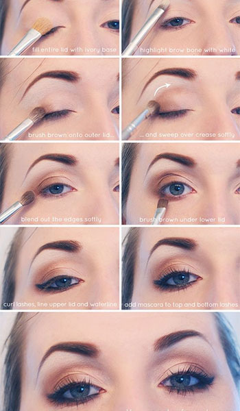 eye makeup - gold toturial