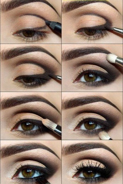 eye makeup - smokey eye toturial darker colors