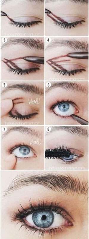 eye makeup shadow using liner