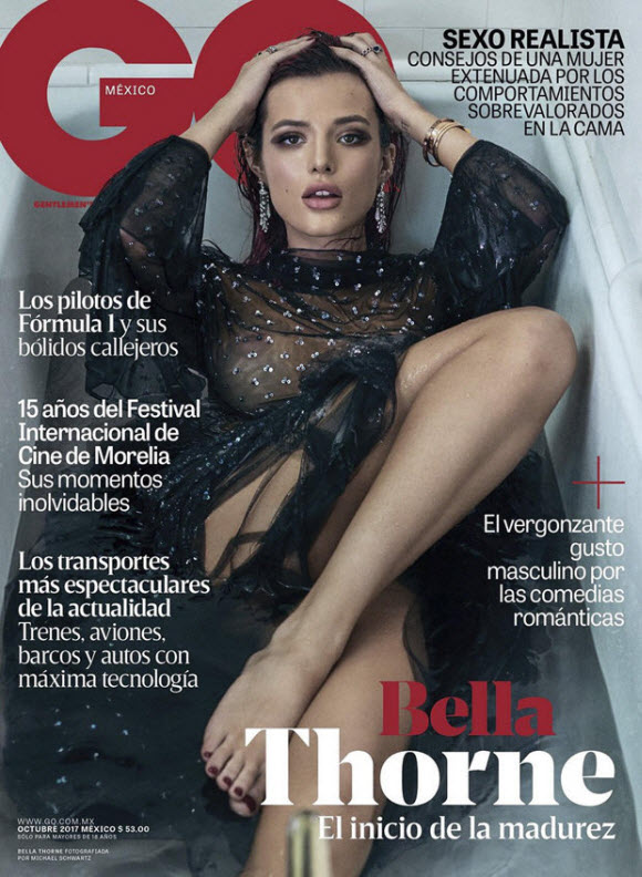 Bella Thorne Poses Completely Nude For GQ Magazine