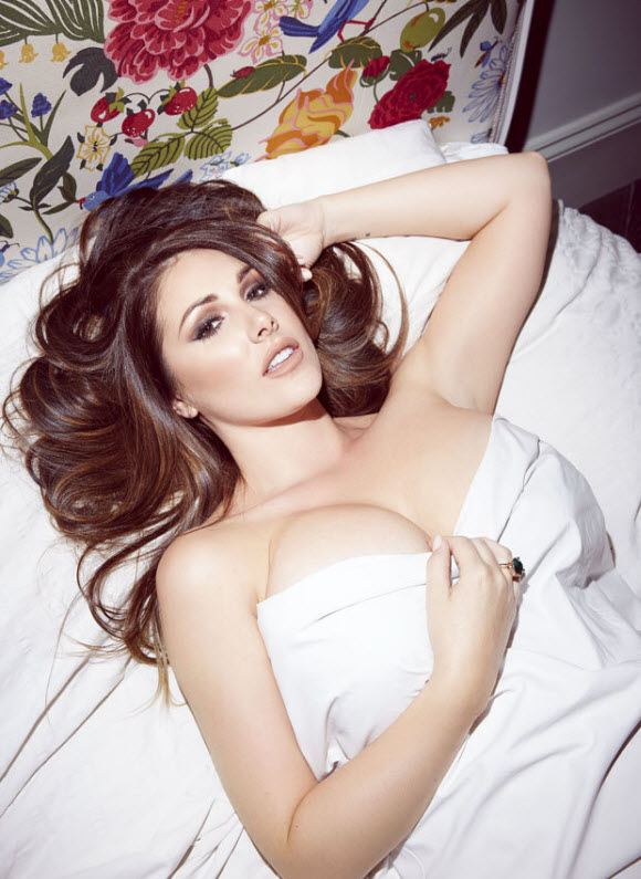 Lucy Pinder Exposes Her Epic Cleavage In Gorgeous Lingerie For 2018 Calendar