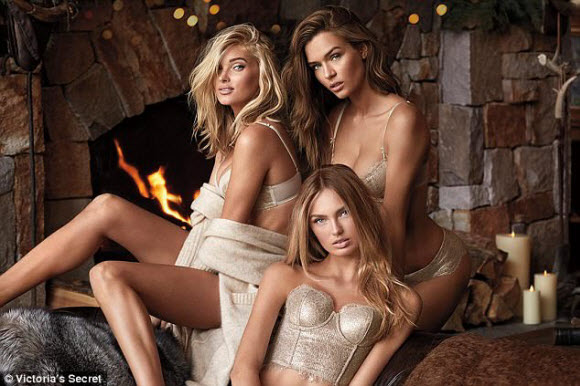 Martha Hunt Flashes Sexy Cleavage Alongside Elsa Hosk And Romee Strijd In Sizzling Victoria's Secret Shoot